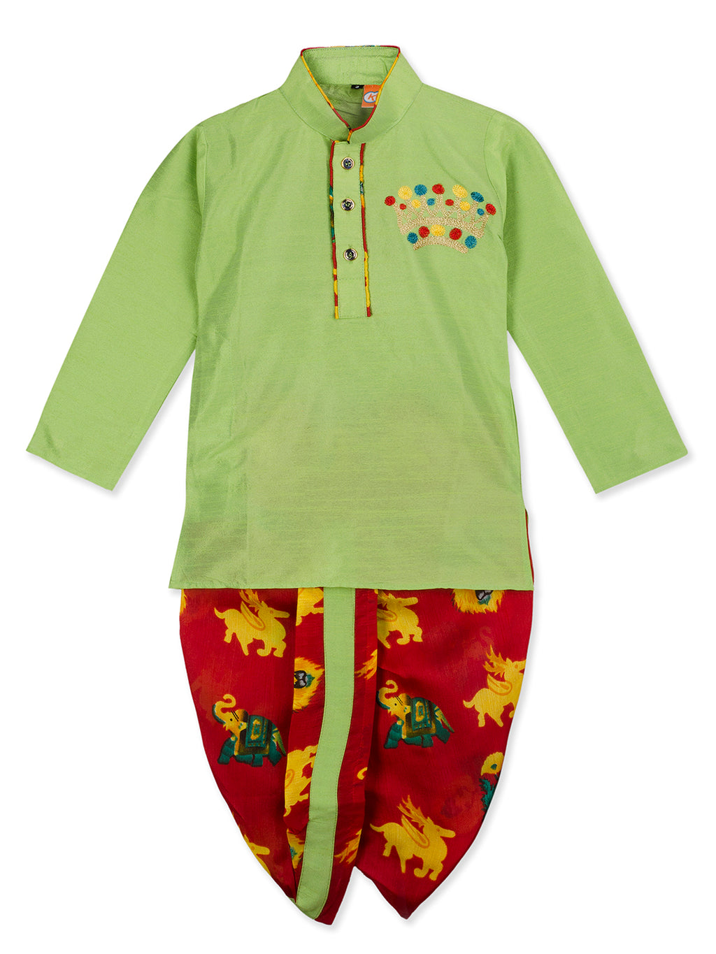 NEW ARRIVALS! Green Kurta Dhoti Set For Boys