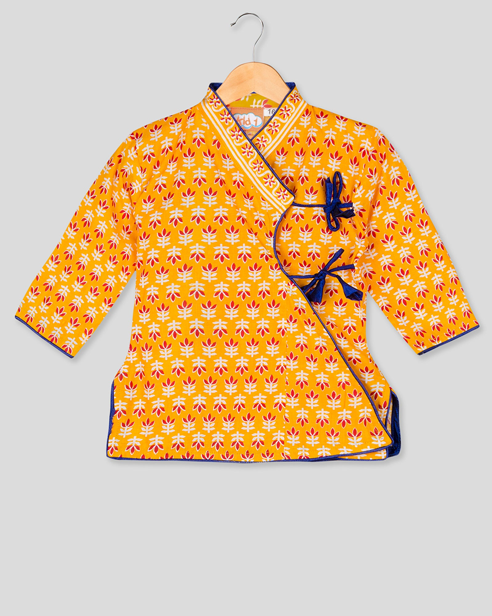 NEW ARRIVALS! Anghrakha Full Sleeves Yellow Kurta Dhoti Set