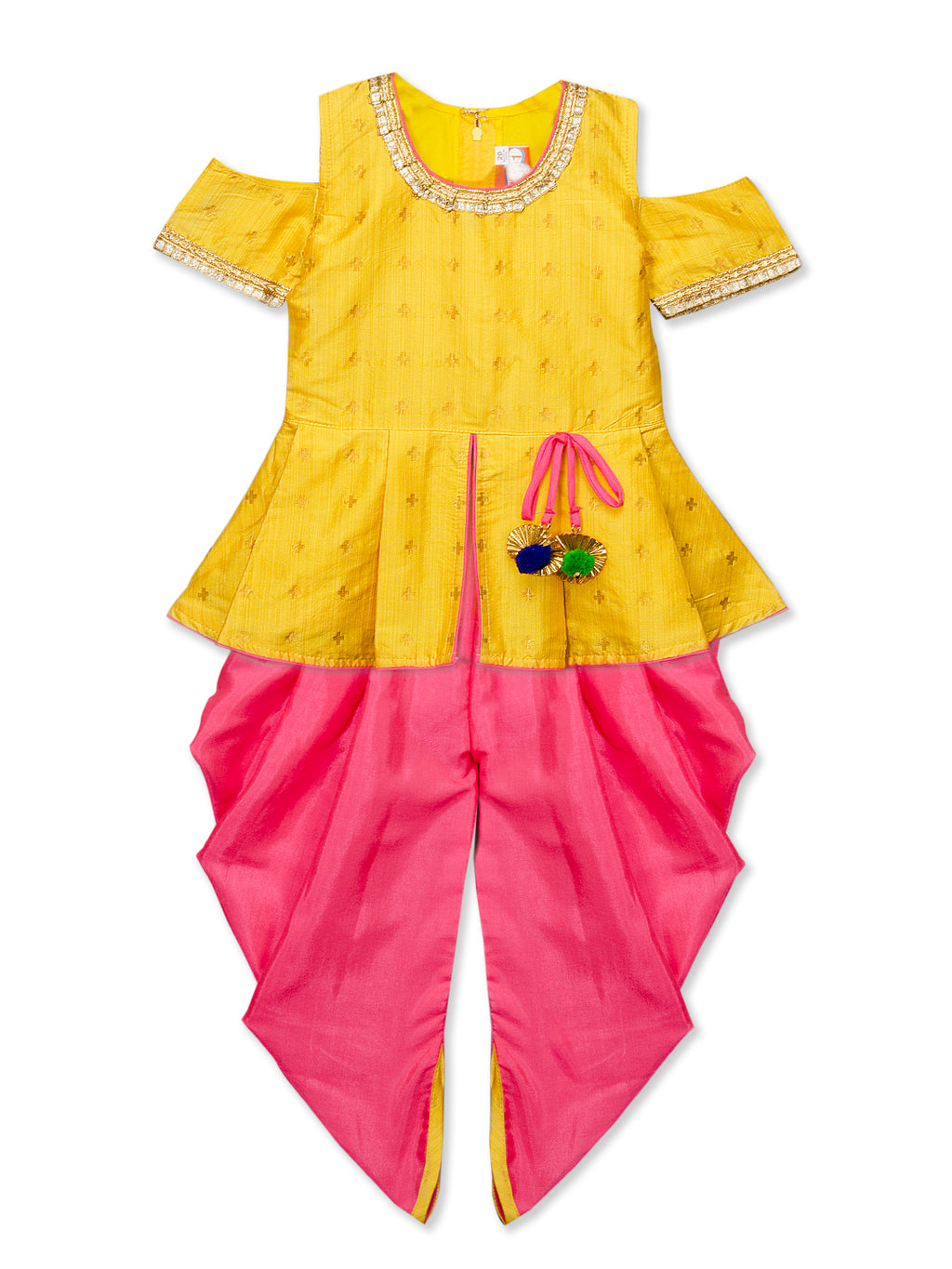 Hand Embroidered Dhoti Kurta for girls