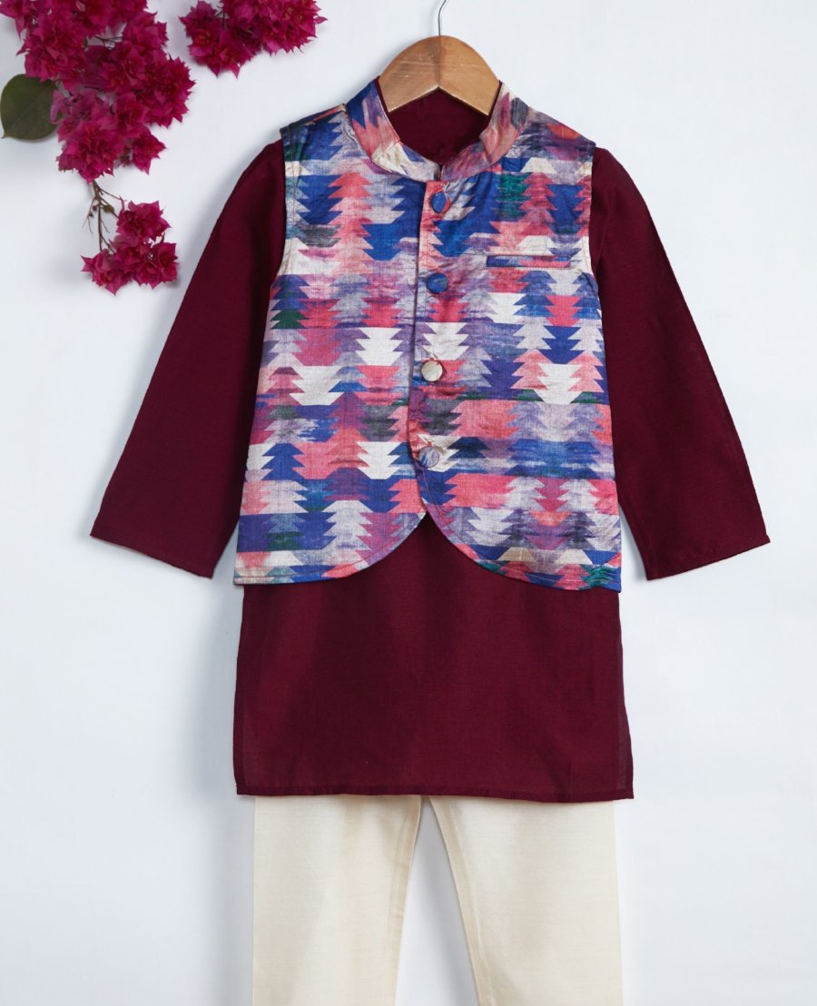 boy kurta pajama with jacket