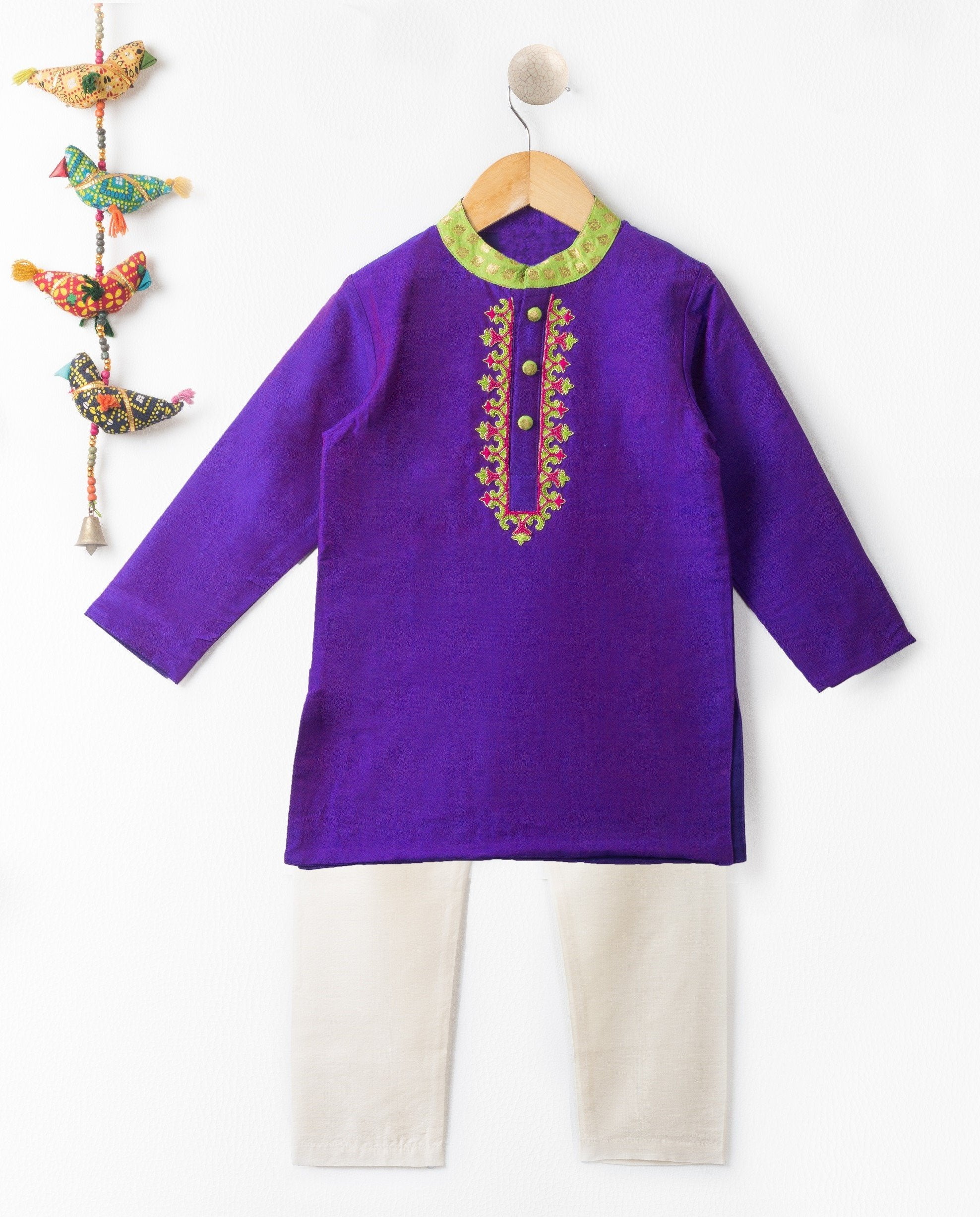 Boy Purple Kurta Pajama