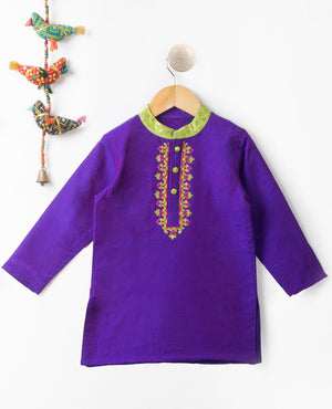 Hand Embroidered Kurta Pajama