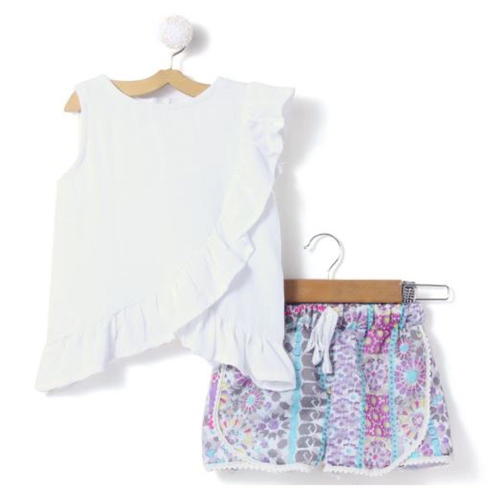 White Top with Shorts - FREE SHIPPING