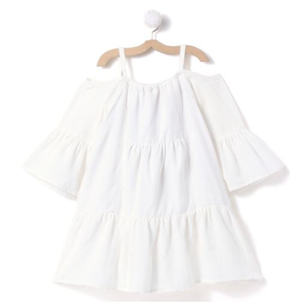 White Off Shoulder dress/ Swim cover up - FREE SHIPPING