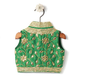 backview ethnic jacket for girls