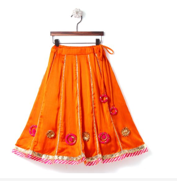patch work lehenga for girls