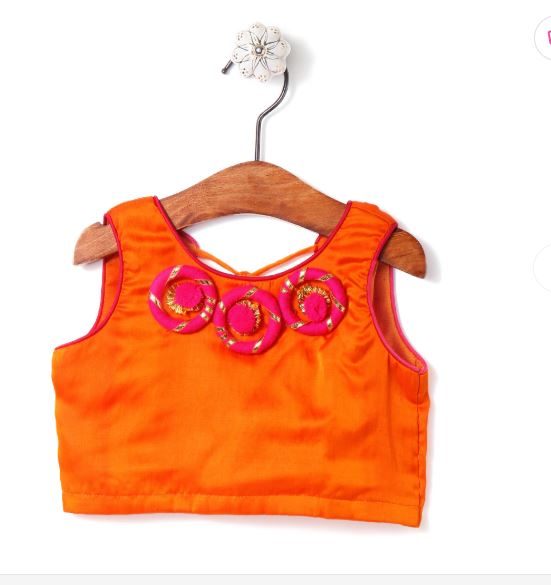 patch work choli for girls