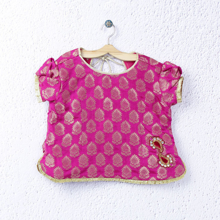 brocade choli for girls