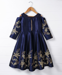 Girl Ethnic Royal Blue Gown, indo western dress, ethnic dress, Diwali dress, occassion dress