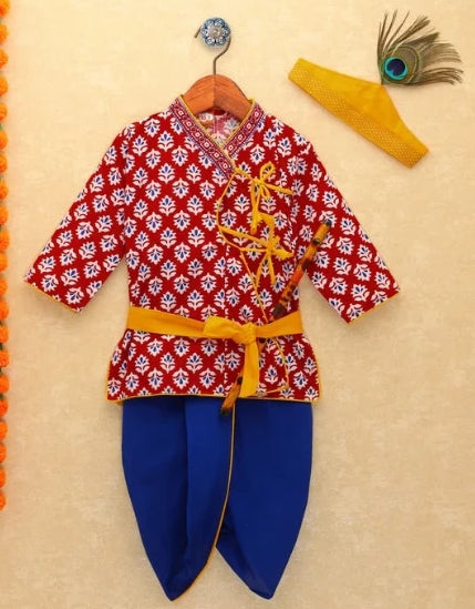 Dhoti Kurta, Krishna dress, Janmashtami Outfit, Boy dress, Indian dress, ethnic dress