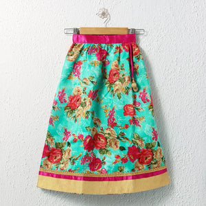 girls printed lehenga