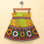Chaniya Choli for Girls - Cap Sleeves Choli With Leheriya Yellow Lehenga