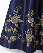 Ethnic Royal Blue Gown