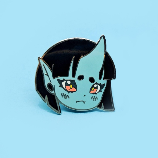 ENAMEL PIN | OC | Mugi the Blue Oni