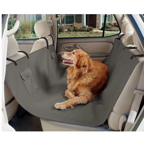 Hammock Style Back Seat Cover (Grey) - Oh My Dog Supply