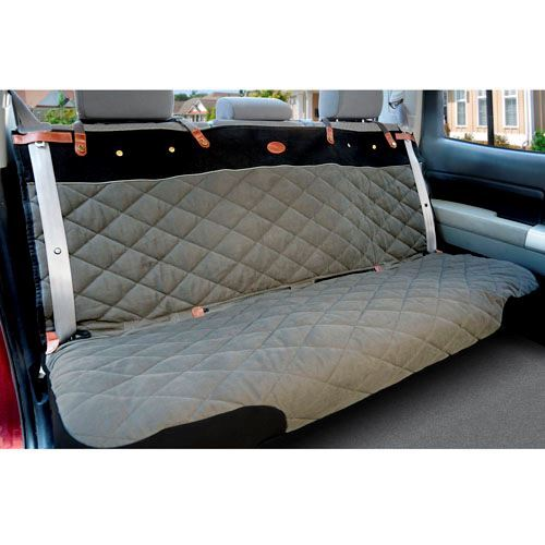 quilted premium car seat cover grey oh my dog supply. Black Bedroom Furniture Sets. Home Design Ideas