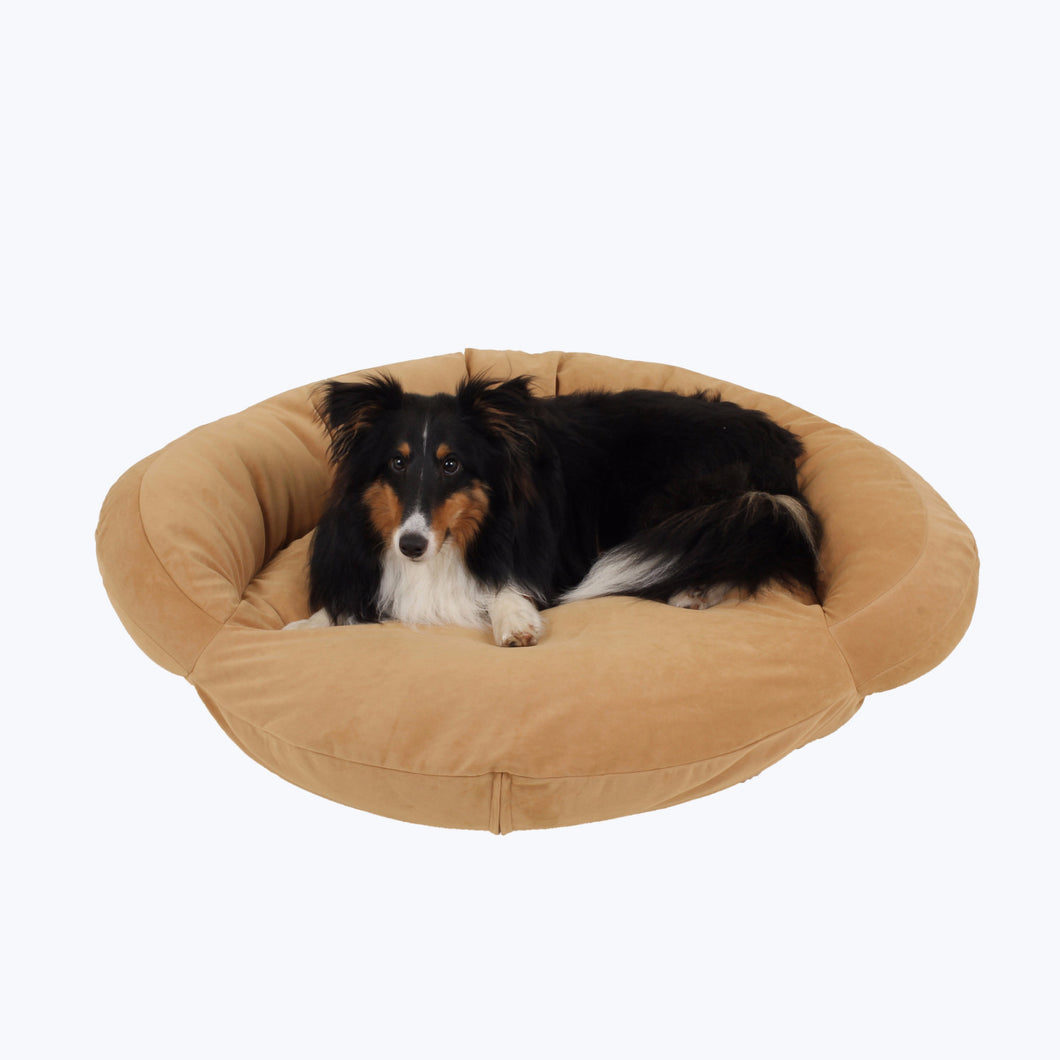 Classic Velvet Bolster Dog Bed - Oh My Dog Supply