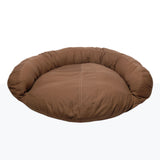 Canvas Saddle-Stitched Bolster Dog Bed