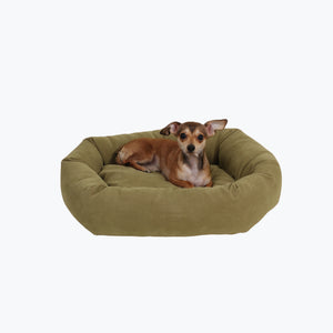 Classic Microfiber Bagel Dog Bed - Oh My Dog Supply