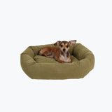 Classic Microfiber Bagel Dog Bed