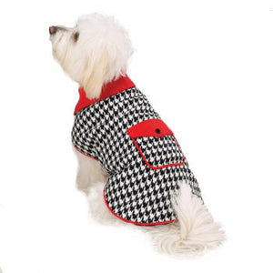 Clearance Houndstooth Reversible Voat - Oh My Dog Supply