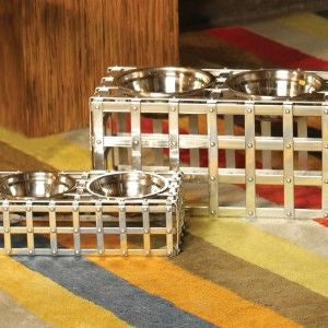 Aluminum Weave Dog Feeder - Oh My Dog Supply