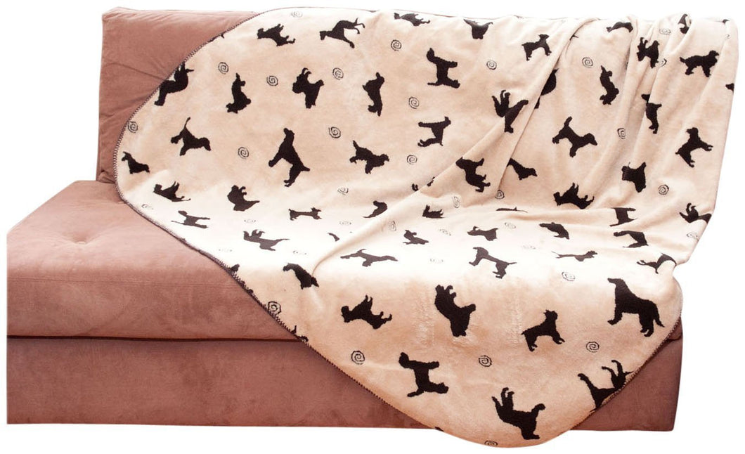 Plush Embossed Dog Throw