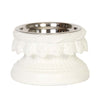 Bernini Raised Dog Bowl - White