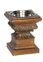 Adore Raised Dog Feeder in Aged Gold - This Product Feeds 15-20 Shelter Dogs! - Oh My Dog Supply