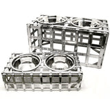 Aluminum Weave Dog Feeder