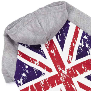 Distressed British Flag Dog Hoodie - Oh My Dog Supply