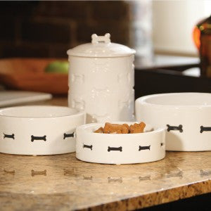 Dog Bone Porcelain Dish - Oh My Dog Supply