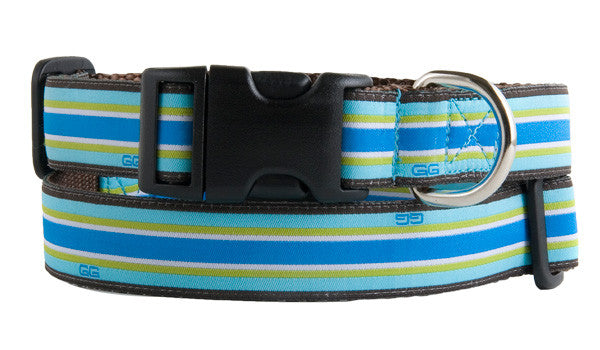 Union Street Dog Collar-Blue