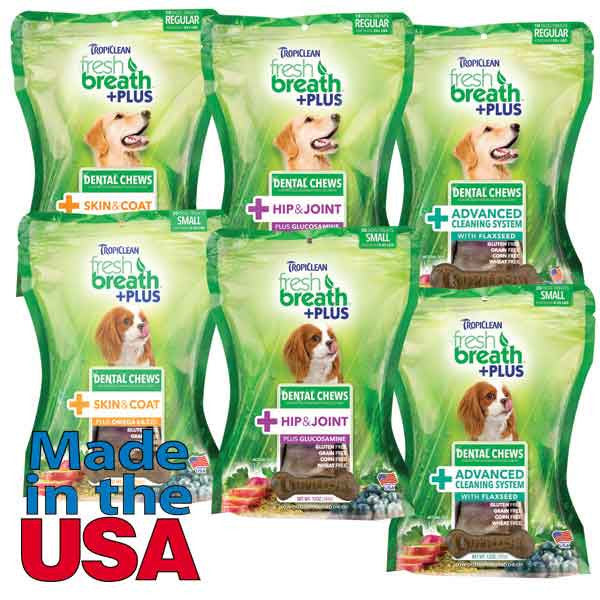 Fresh Breath Dental Treats by Tropiclean - Oh My Dog Supply
