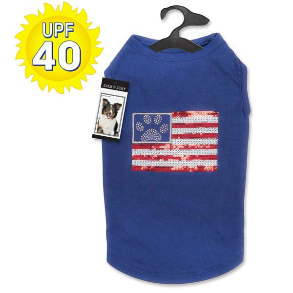 Sequin Flag Dog Tank
