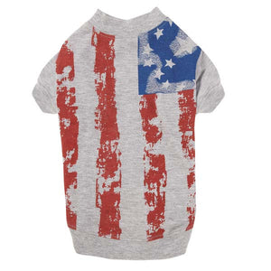 Flag Print Dog Tee - Oh My Dog Supply
