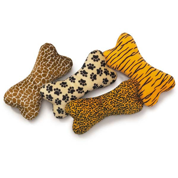 Plush Animal Print Dog Toys