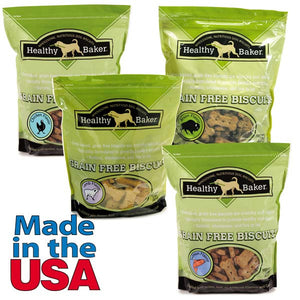 Healthy Baker Grain Free Dog Treats - 2 lbs - Oh My Dog Supply