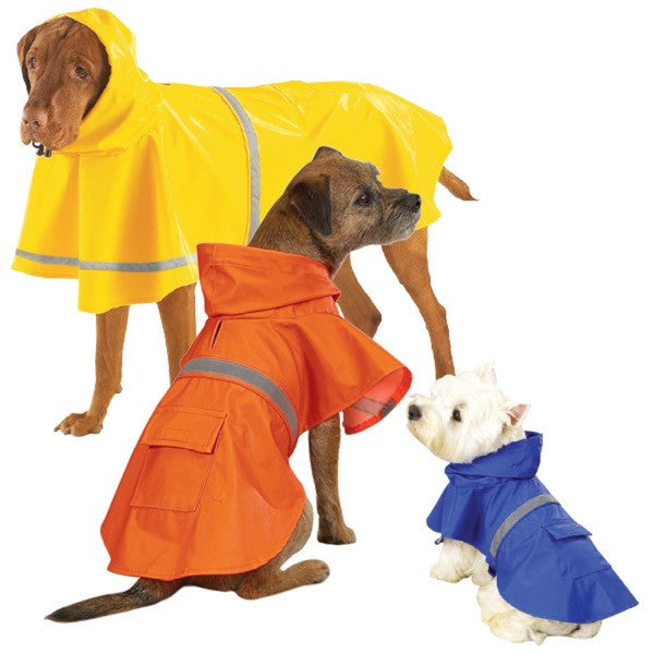 Brightly Colored Rainy Day Dog Jackets