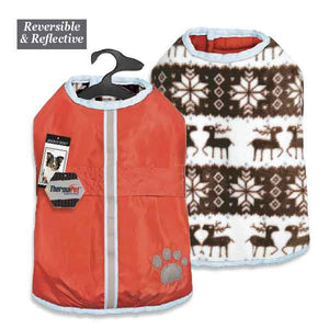 Thermal Warm and Waterproof Reversible Dog Jacket