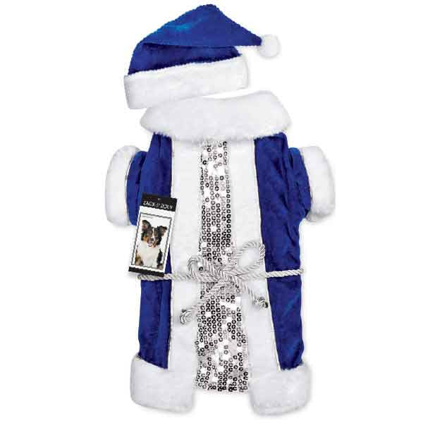 Blue Velvet Santa Set for Dogs