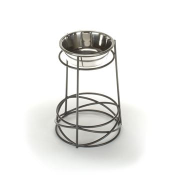 High Rised Mesh Dog Bowl Feeder
