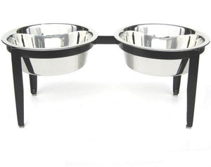Clearance The Elegant Patio Double Dog Bowl Feeder - Oh My Dog Supply