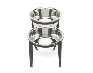 The Elegant Patio Double Dog Bowl Feeder