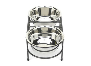Double Dog Bowl Mesh Feeder