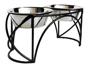 Arched Cross Double Feeder - Oh My Dog Supply