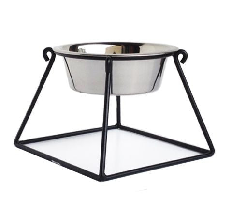 Raised Single Dog Bowl Pyramid Feeder