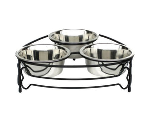Copy of Mesh Triple Bowl Dog Feeder