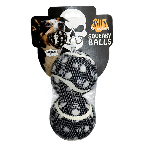 The Scary Skull Tennis Balls