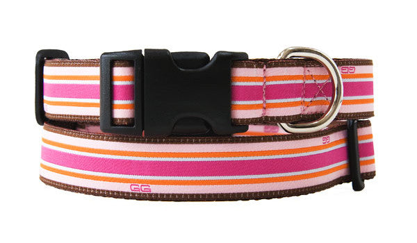 Union Street Dog Collar-Pink